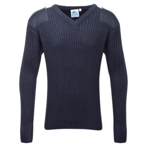 Blue Castle V-neck Combat Jumper