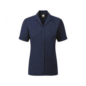 5650 Premium Oxford Short Sleeve Blouse